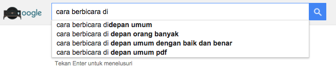 Contoh Google Suggestion