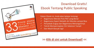 Belajar Public Speaking Gratis!